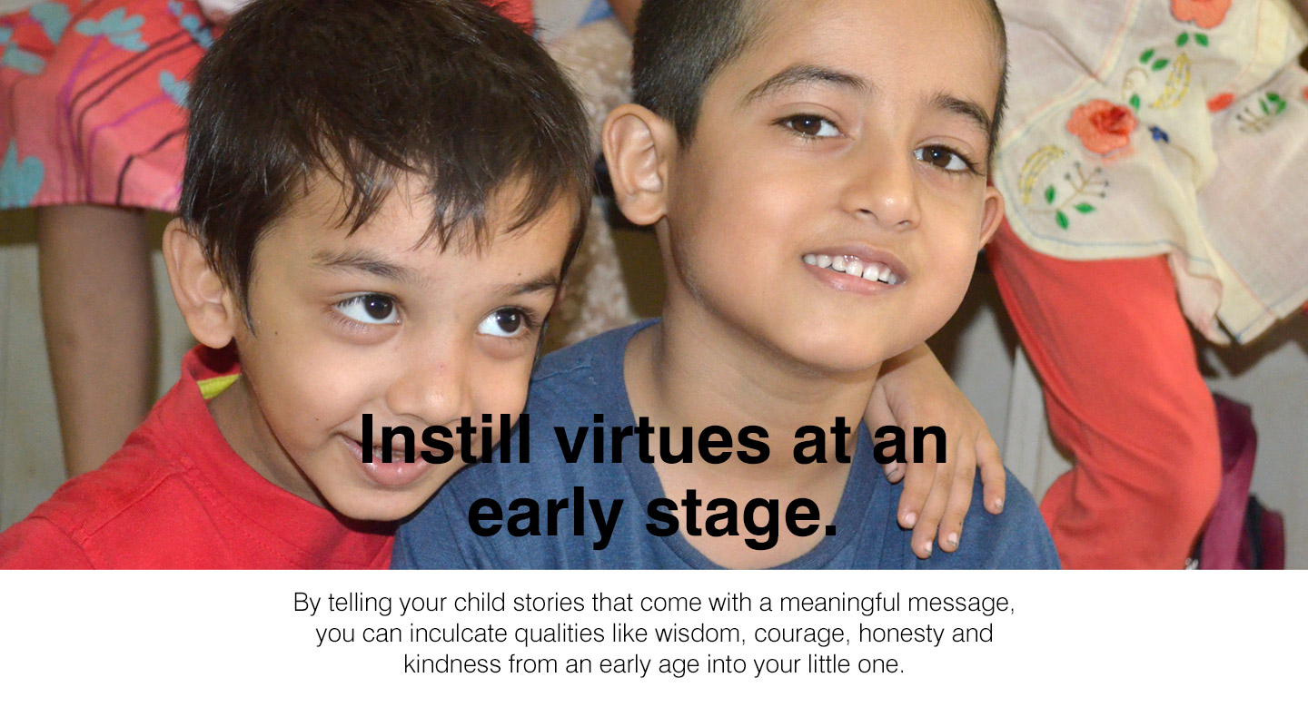 Children's Story-Telling Class in Navi Mumbai - Instill virtues at an early stage.